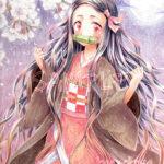 禰豆子(鬼滅の刃)コピックイラスト